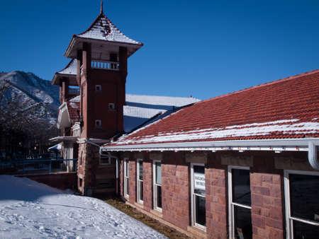 HIstoric depot of Glenwood Springs, Colorado.