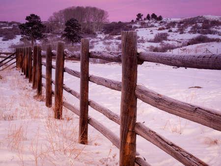 divides: Espectacular Dallas Divide en una ma�ana de invierno. Foto de archivo