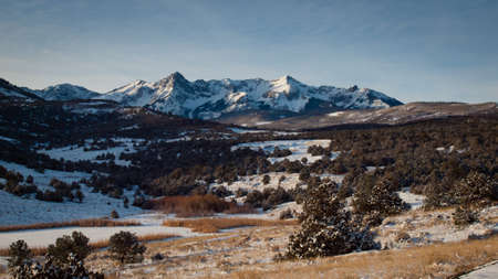 Spectacular Dallas Divide on a winter morning. photo