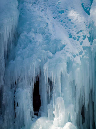 ouray: Icicles of Ice Park in Ouray, Colorado.