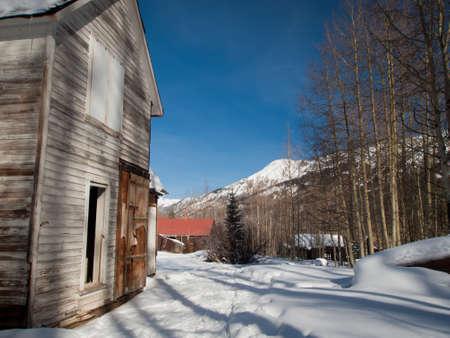 old mining building: Abandon mining town of Ironton Park, Colorado.