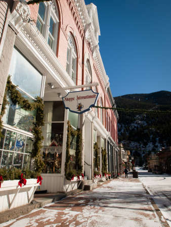 shoppe: Winter in downtown of Georgetown, Colorado. Editorial