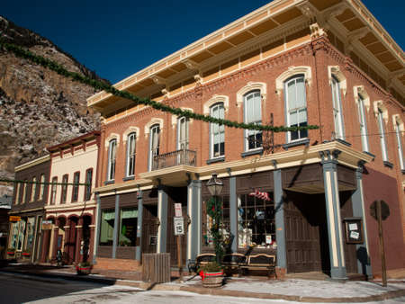 Winter in downtown of Georgetown, Colorado. Stock Photo - 12001703