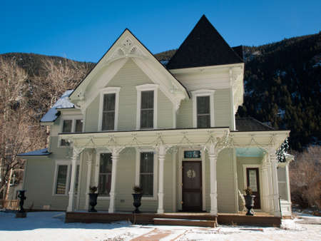 christmas house: Winter in downtown of Georgetown, Colorado. Editorial