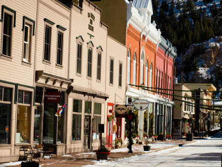 winter: Winter in downtown of Georgetown, Colorado. Editorial