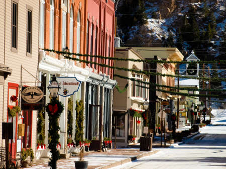 Winter in downtown of Georgetown, Colorado.