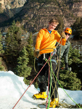 ouray: Ice climbing in Ice Park, Ouray.