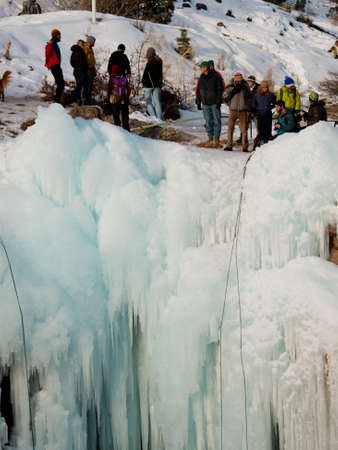 Ice Festival annuale Box Canyon, Ouray. Archivio Fotografico - 12024074