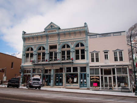 Old opera house in small mountain town of Ouray, Colorado.