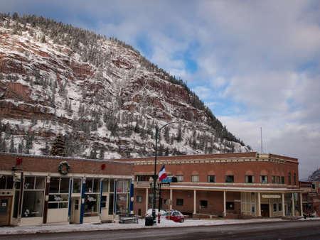 Winter view of Ouray, Colorado.