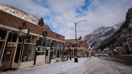 Winter view of Ouray, Colorado. Stock Photo - 12058893