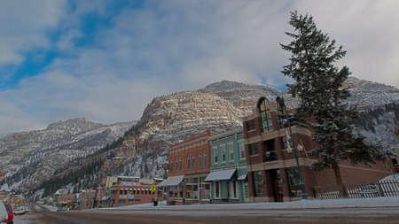 ouray: Winter view of Ouray, Colorado.