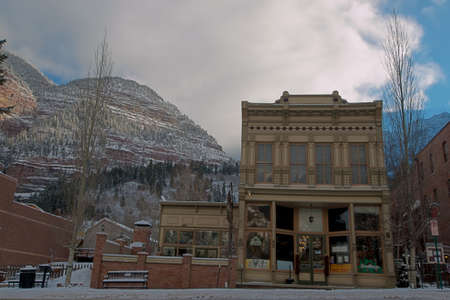 Winter view of Ouray, Colorado.