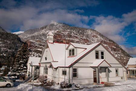 ouray: Small church in Ouray, Colorado. Editorial