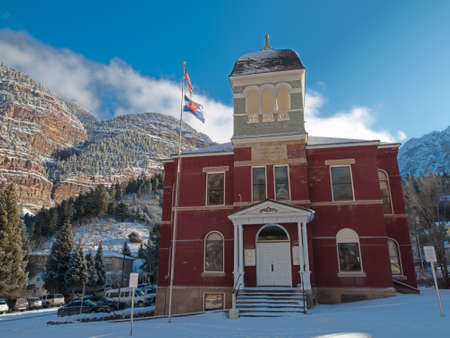 ouray: Ouray County Court House in Ouray, Colorado. Editorial