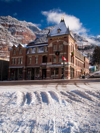 Old hotel in small mountain town of Ouray, Colorado. Stock Photo - 12059013