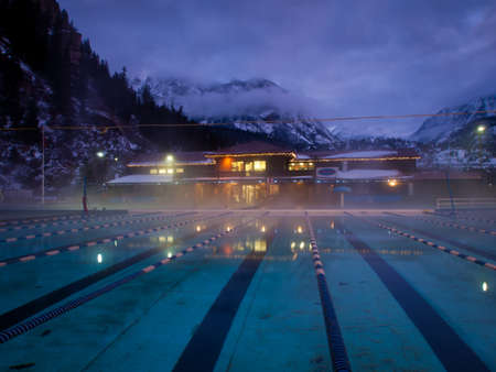 Ouray Hot Spring Pool in the winter.