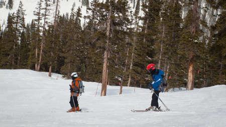 loveland: Skiing at Loveland Basin, Colorado.