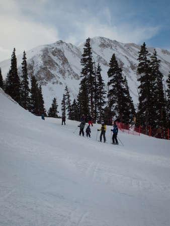 loveland: Winter peaks of LOveland Basin, Colorado. Editorial
