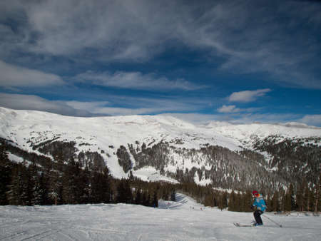 Winter peaks of LOveland Basin, Colorado.