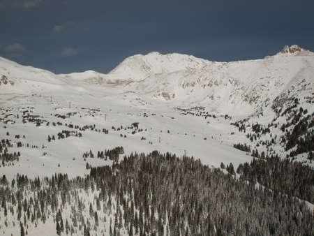 Winter peaks of LOveland Basin, Colorado. photo