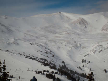 Winter peaks of LOveland Basin, Colorado. photo
