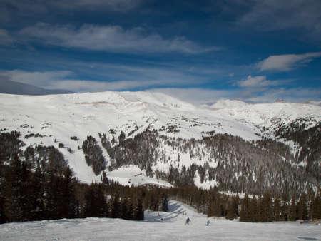loveland: Winter peaks of LOveland Basin, Colorado. Stock Photo