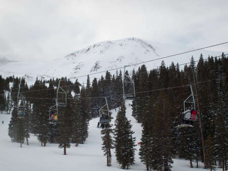 Skiing at Loveland Basin, Colorado.