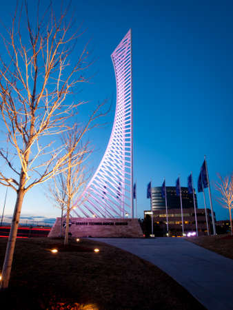 meant: The Denver Tech Center is symbolized by the DTC Identity Monument, which meant to resemble the framework of a skyscraper.