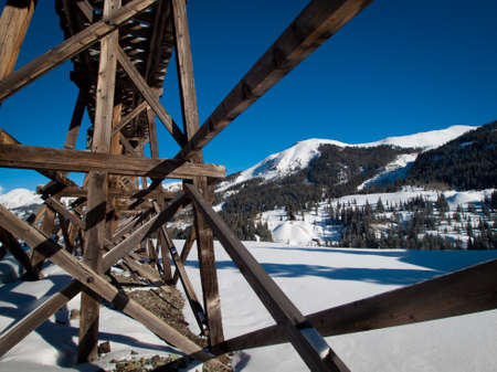 ouray: Red mountain and Yankee Girl Mine near Ouray, Colorado. Editorial