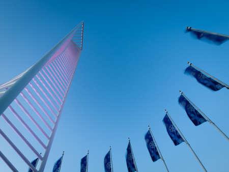 meant: Il Denver Tech Center � simboleggiato dalla Monument Identit� DTC, il che significava per assomigliare il quadro di un grattacielo.
