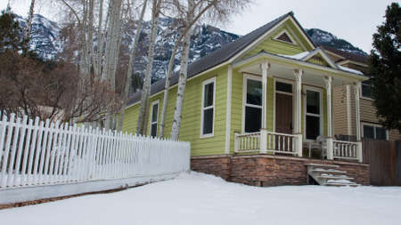 Old house in small mountain town of Ouray, Colorado.