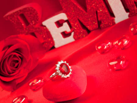 Valentines day decorations. photo