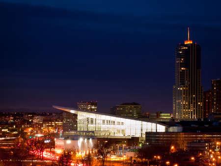 moders: Denver skyline at blue hour.