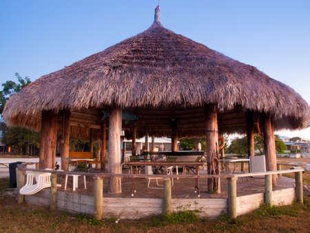 Tiki on East side of Chokoloskee Island. Stock Photo - 12201231