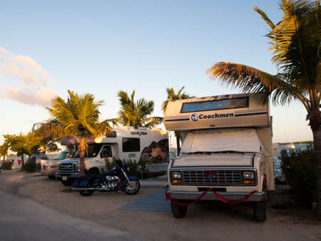 Campground with RV's on Stock Island, Florida.