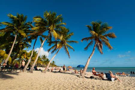 florida beach: Smathers Beach on Key West, Florida.