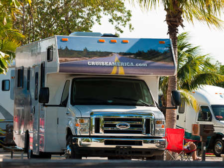 Campground with RVs on Stock Island, Florida.