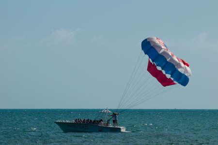 Fun parasailing on Key West, Florida.