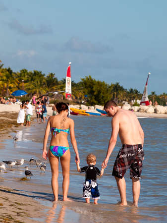 Smathers Beach on Key West, Florida.