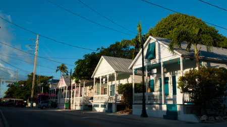 Row of houses on Key West, Florida.