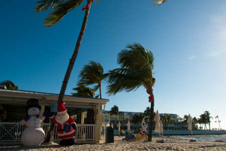 Christmas on Florida's beach on Key West, Florida. Stock Photo - 12257141