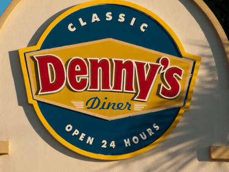 Dennys sign on Key West, Florida.
