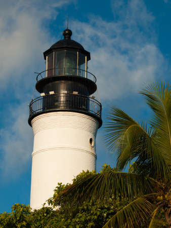 110-foot Lighthouse Museum on Key West, Florida. The lighthouse, built in 1848, was restored in 1990.