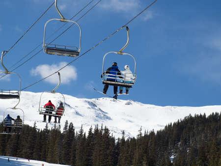 Skiing at Loveland Basin, Colorado. Stock Photo - 12257262