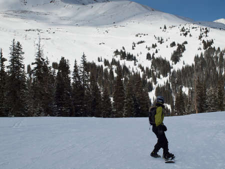 Skiing at Loveland Basin, Colorado.