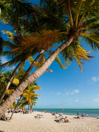 Smathers Beach on Key West, Florida.