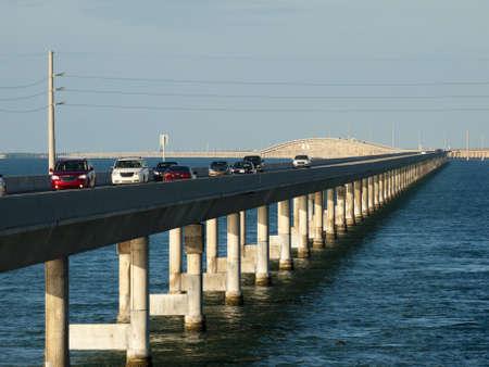 The Seven Mile Bridge is a famous bridge in the Florida Keys.