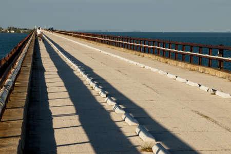 The Seven Mile Bridge is a famous bridge in the Florida Keys. Stock Photo - 12257244