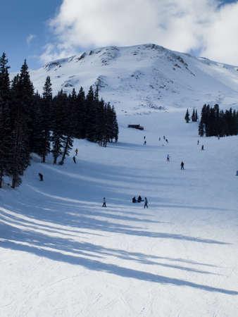 Skiing at Loveland Basin, Colorado. photo